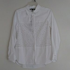 BCBG MaxAzria White Button Down Top
